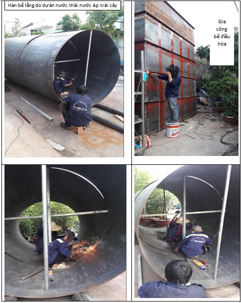 Gia công bồn xử lý nước thải – 0917347578