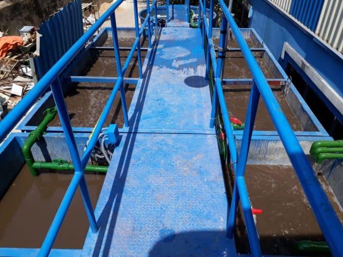 Gia công bồn xử lý nước thải composite nhà máy sản xuất nước ép trái cây Orana