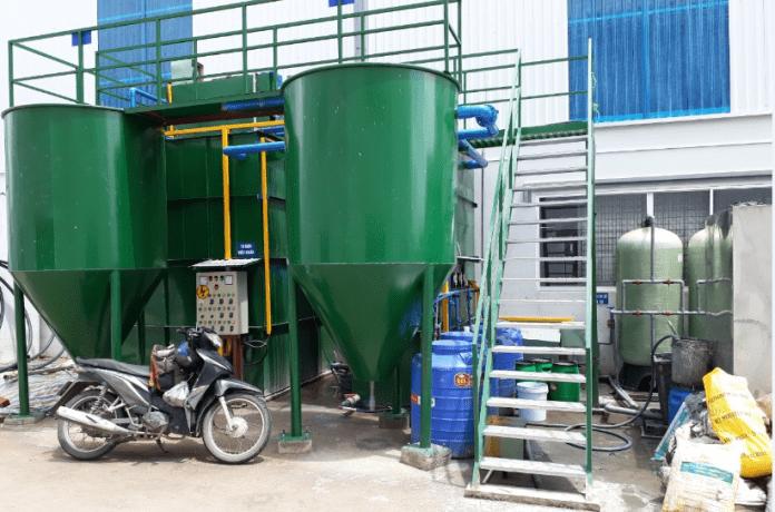 Gia công bồn xử lý nước thải công ty YOKOHAMA